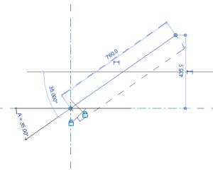 Fig.2 Una linea di riferimento vincolata