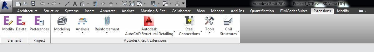 La barra degli strumenti di Auotodesk Excenge