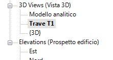 La vista rinominata nel Browser di progetto