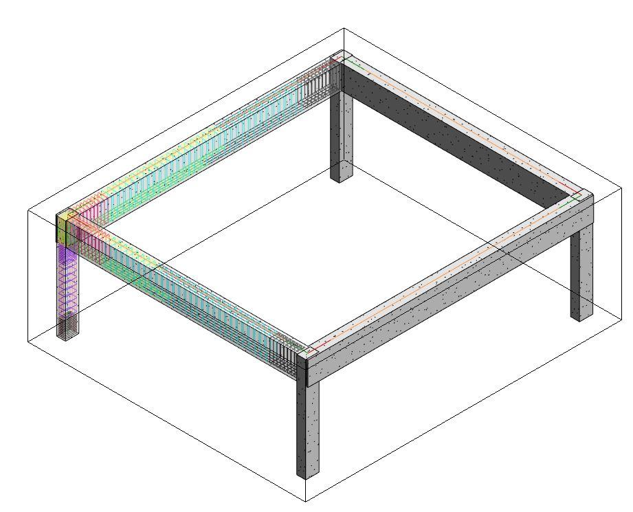 Il riquadro di sezione o Section Box attorno alla struttura