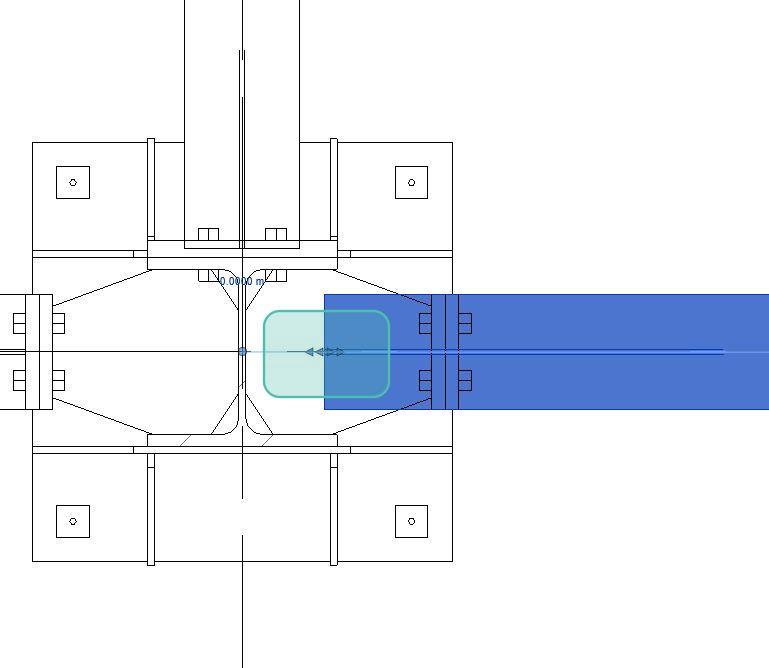 Figura 13 - Modifica dell'estensione di taglio della trave manuale.