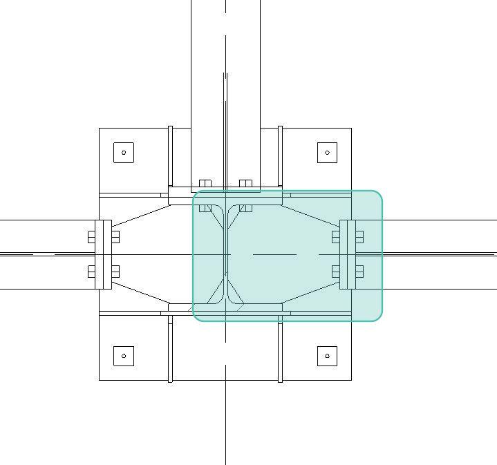 Figura 14 - Modifica dell'estensione di taglio della trave tramite parametro.