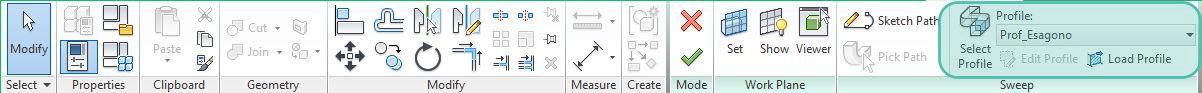 Figura 4 - Tools per il caricamento del profilo.