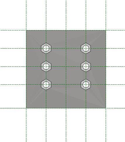 Figura 9 - Famiglia piastra finita struttura piani di riferimento.