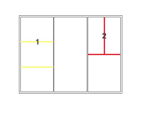 Figura 2 - Stato di progetto con indicazioni dei muri non demoliti/costruiti
