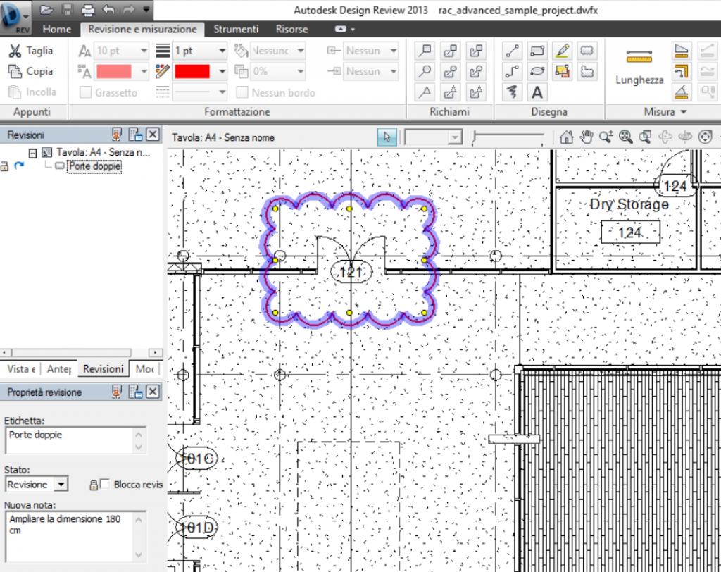 Figura 7 - revisione effettuata con Design Review.