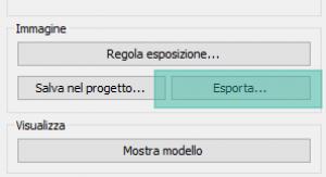 Figura 5 - L'opzione Esporta della finestra di Rendering